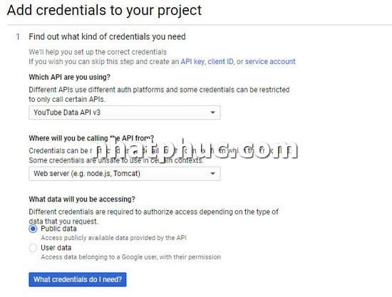 Cách lấy YouTube API để gắn vào trang web khi cần 6