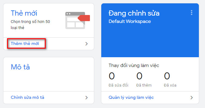 Thêm thẻ mới trong Google Tag Manager