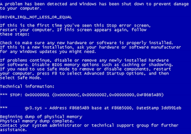 Blue Screen of Death & System Boot Screens