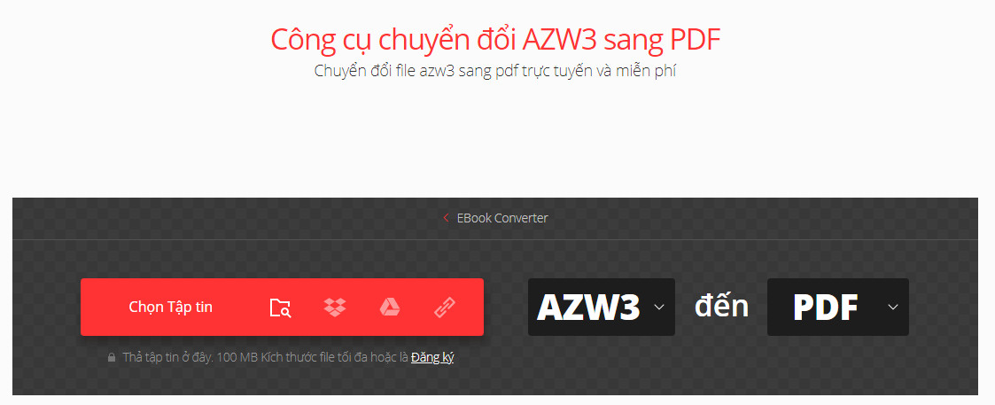 Chuyển đổi AMZ3 sang PDF