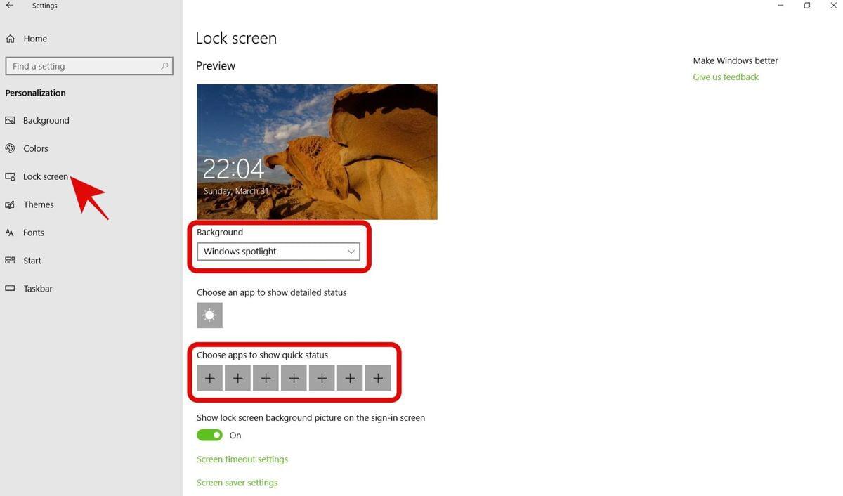 Thay đổi màn hình khóa Windows 10