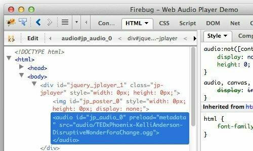 HTML5 Web Audio Player