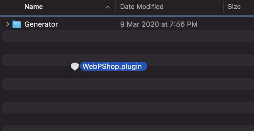 Cách mở file .WebP trong Photoshop