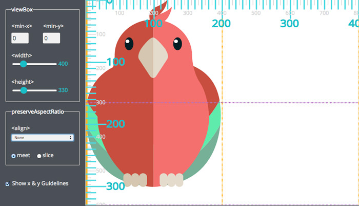 Interactive SVG Coordinate System