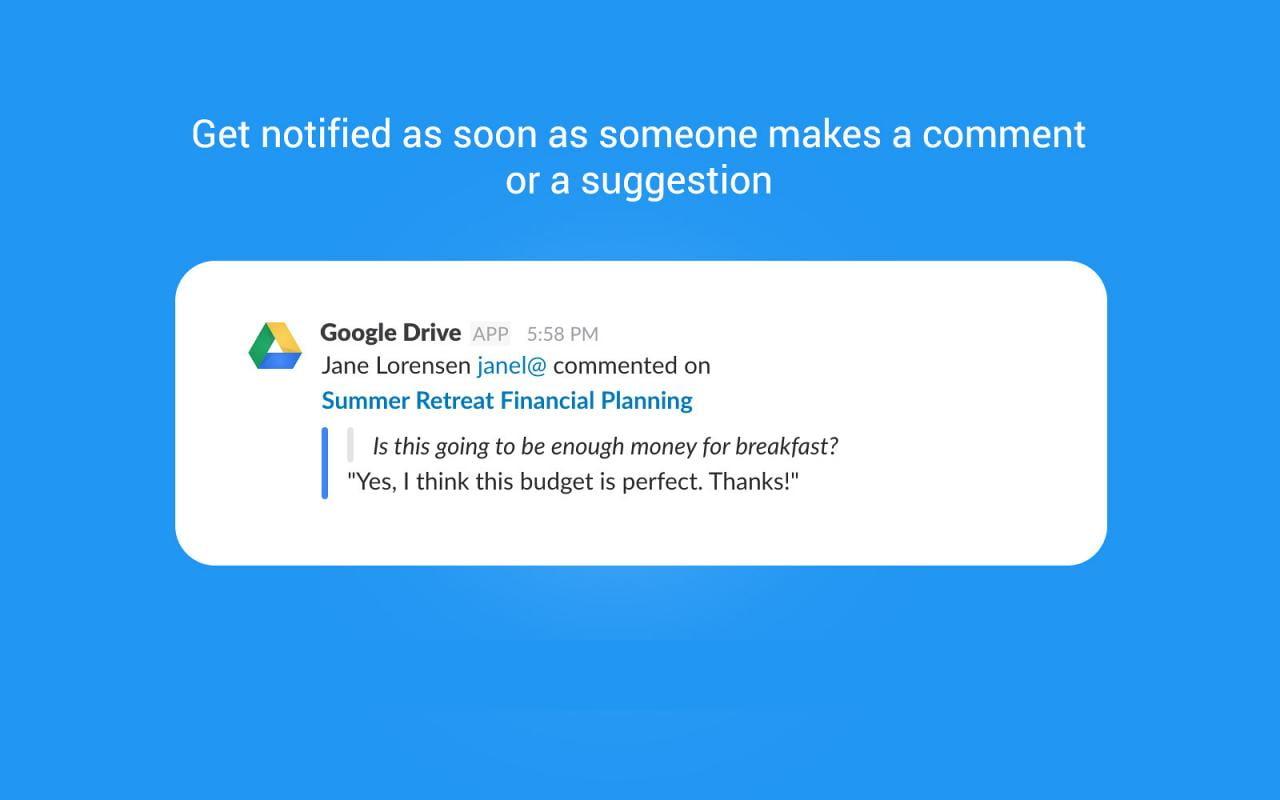 Google Drive dành cho Slack
