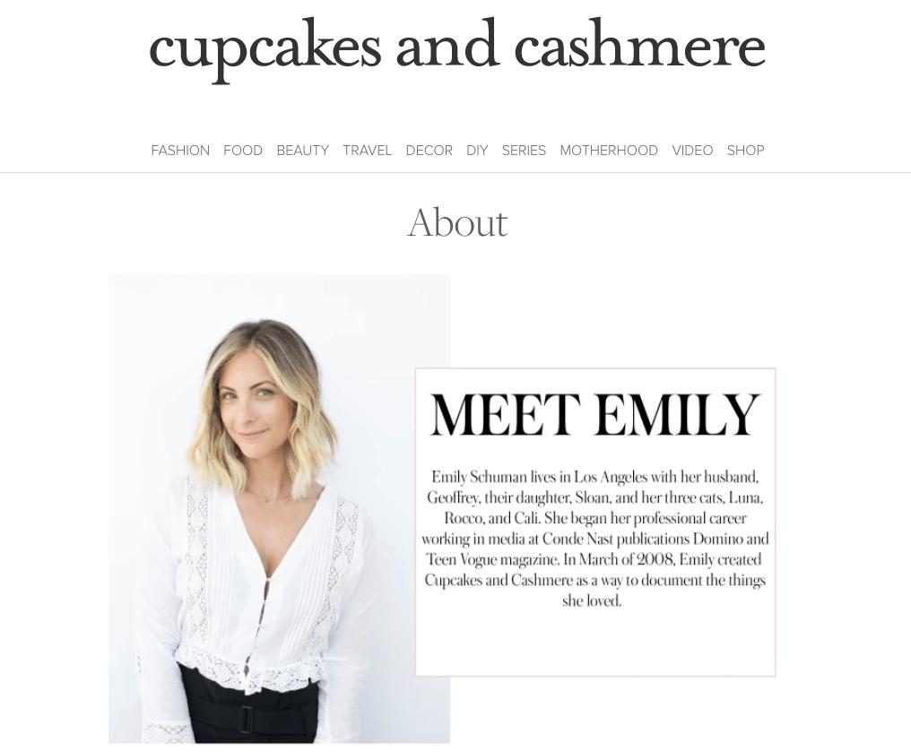 Cupcakes và Cashmere Trang giới thiệu về chúng tôi