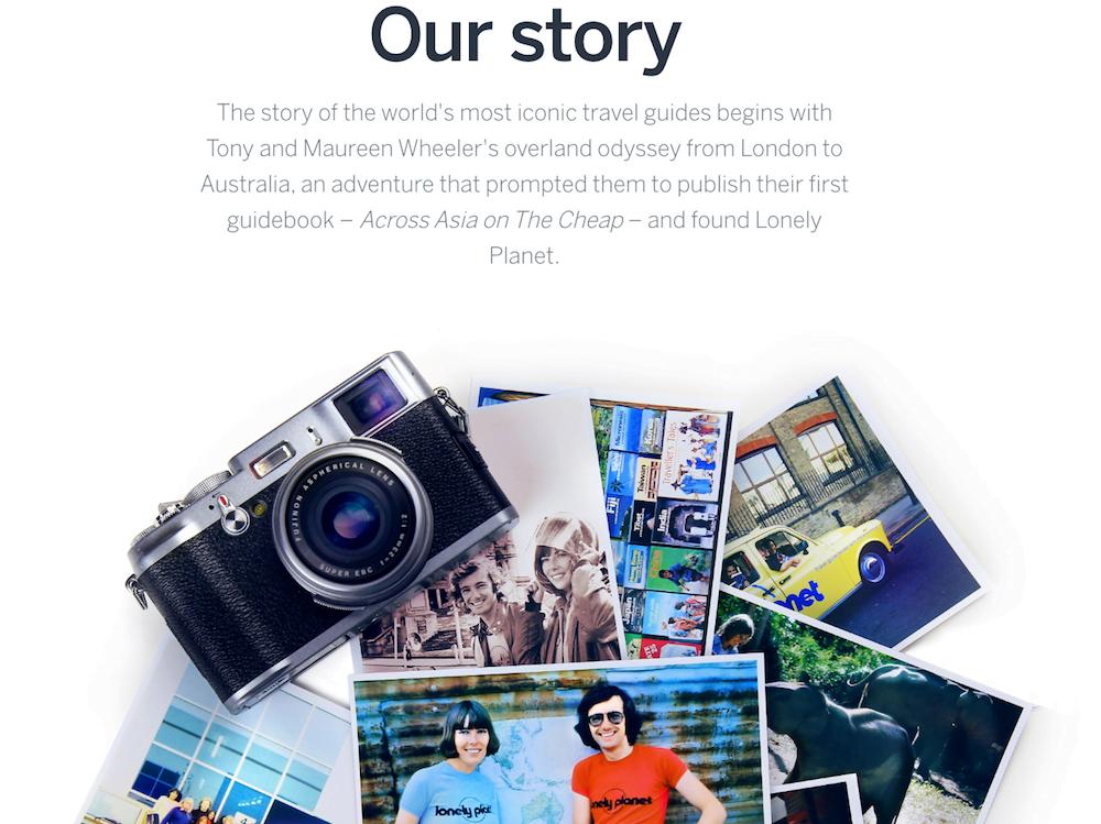 Trang về chúng tôi của Lonely Planet