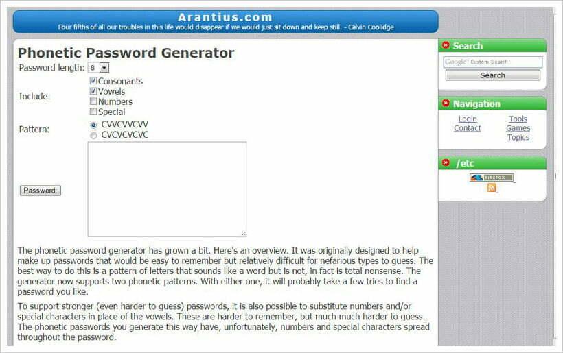 trình tạo mật khẩu phiên âm