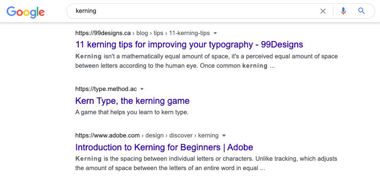 19. Kerning Easter Egg in Google