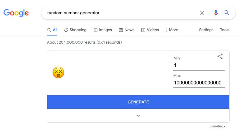 random number generator