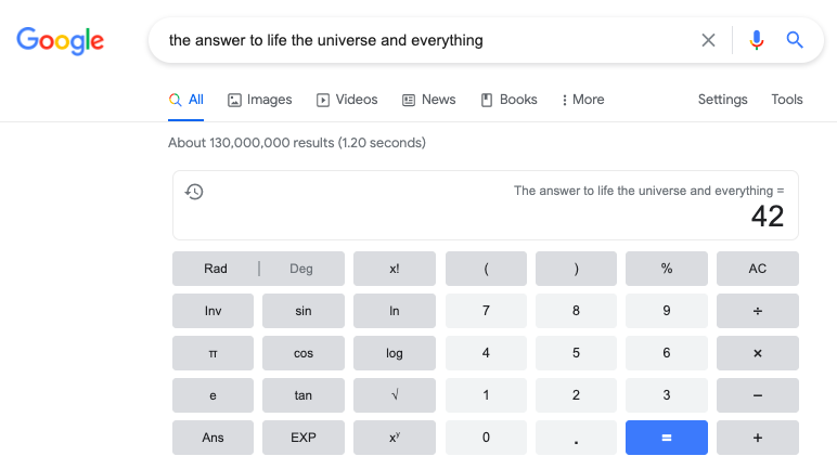 the answer to life the universe and everything