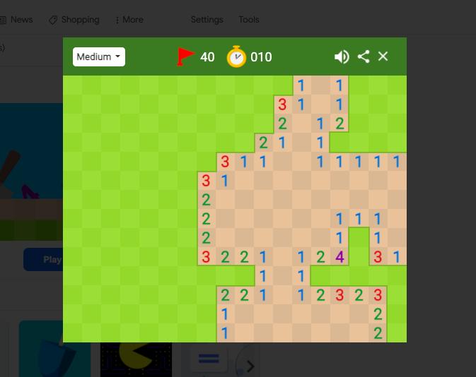 50. Minesweeper in Google