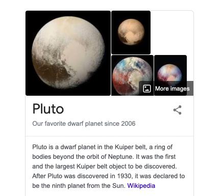 24. Pluto Easter Egg