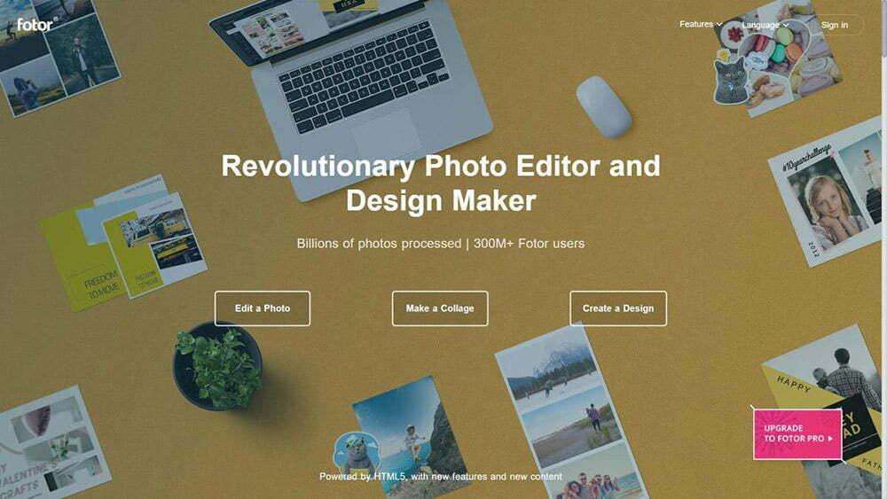 Fotor là một trình chỉnh sửa ảnh trực tuyến phổ biến