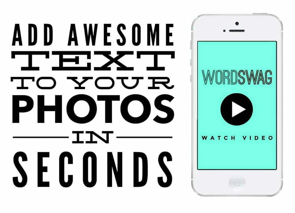 Word Swag giúp tạo hình ảnh từ dấu ngoặc kép