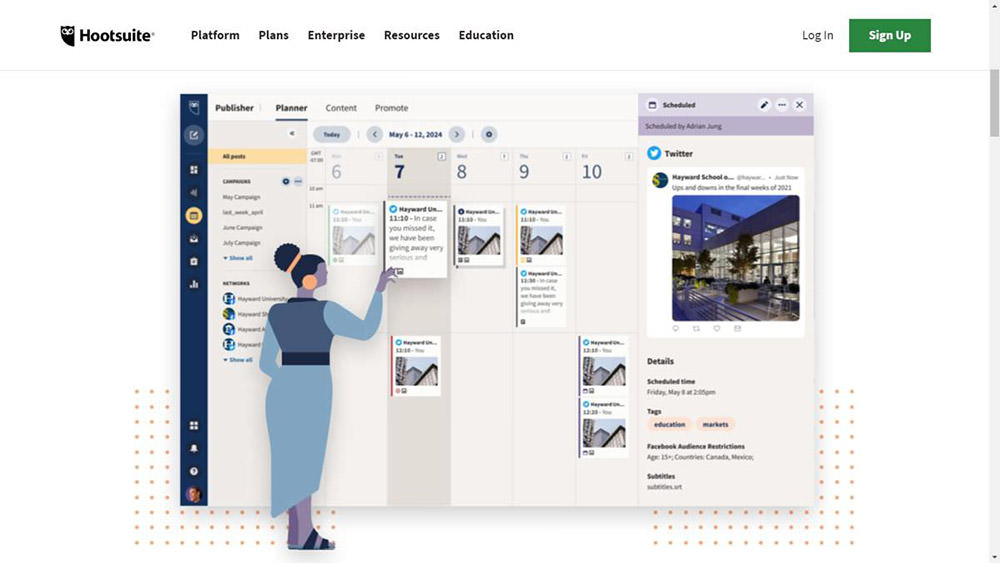 HootSuite là một bộ tiếp thị truyền thông xã hội mạnh mẽ