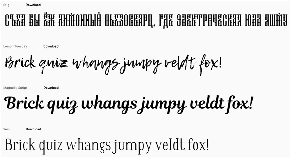 Free Fonts Project