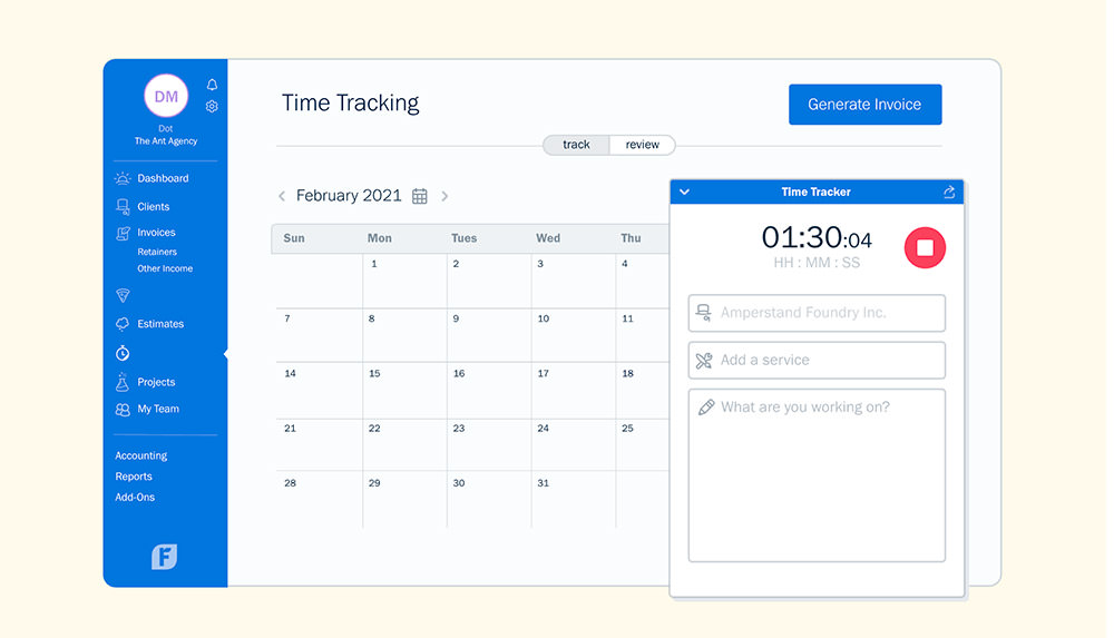Time Tracking by Freshbooks