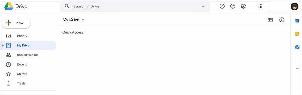 trang chính của google drive