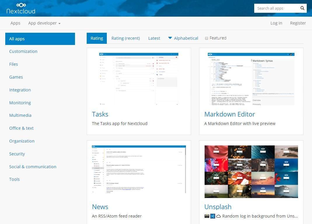 Nextcloud hỗ trợ nhiều tích hợp