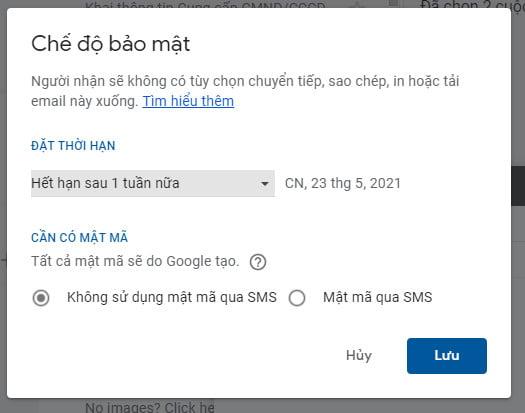 Chế độ bảo mật Gmail