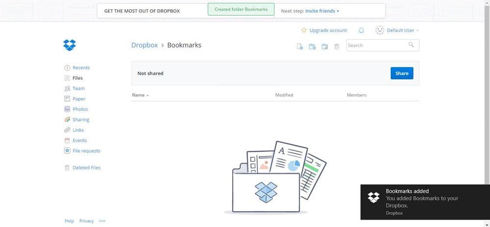 Đánh dấu thông minh với Dropbox