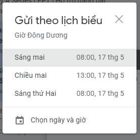 Gmail Gửi theo lịch biểu