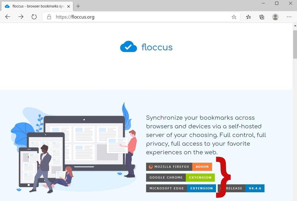 Cài đặt Floccus trên cả hai trình duyệt