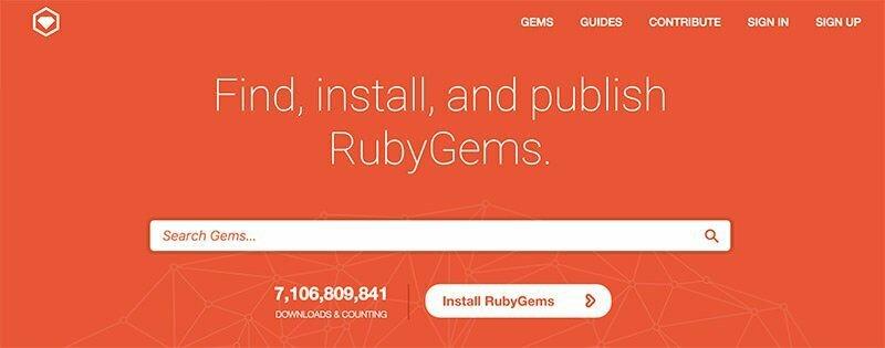 Bạn có thể sử dụng Ruby để cài đặt gói