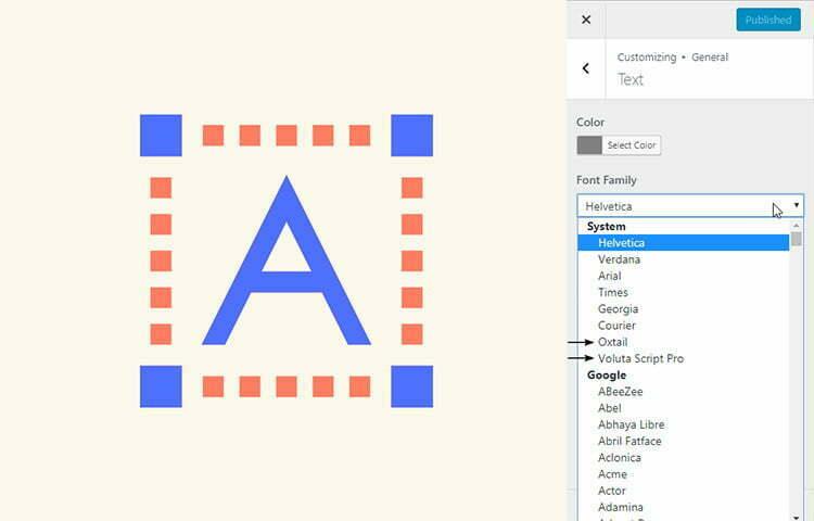 Custom Typekit Fonts