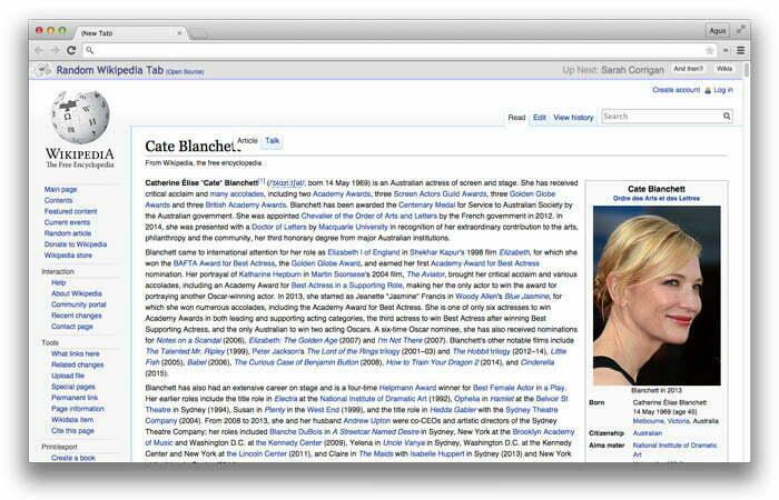 Learn Something New – Random Wikipedia Tab
