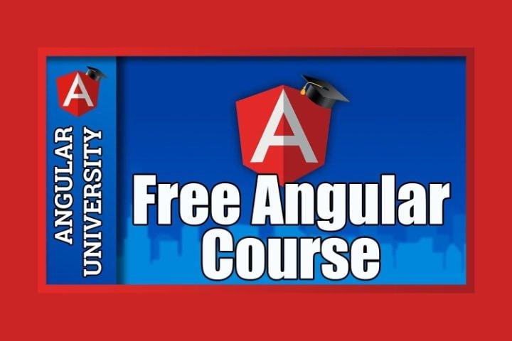 Đăng nhập khóa học miễn phí Angular trong coulour màu xanh và đỏ