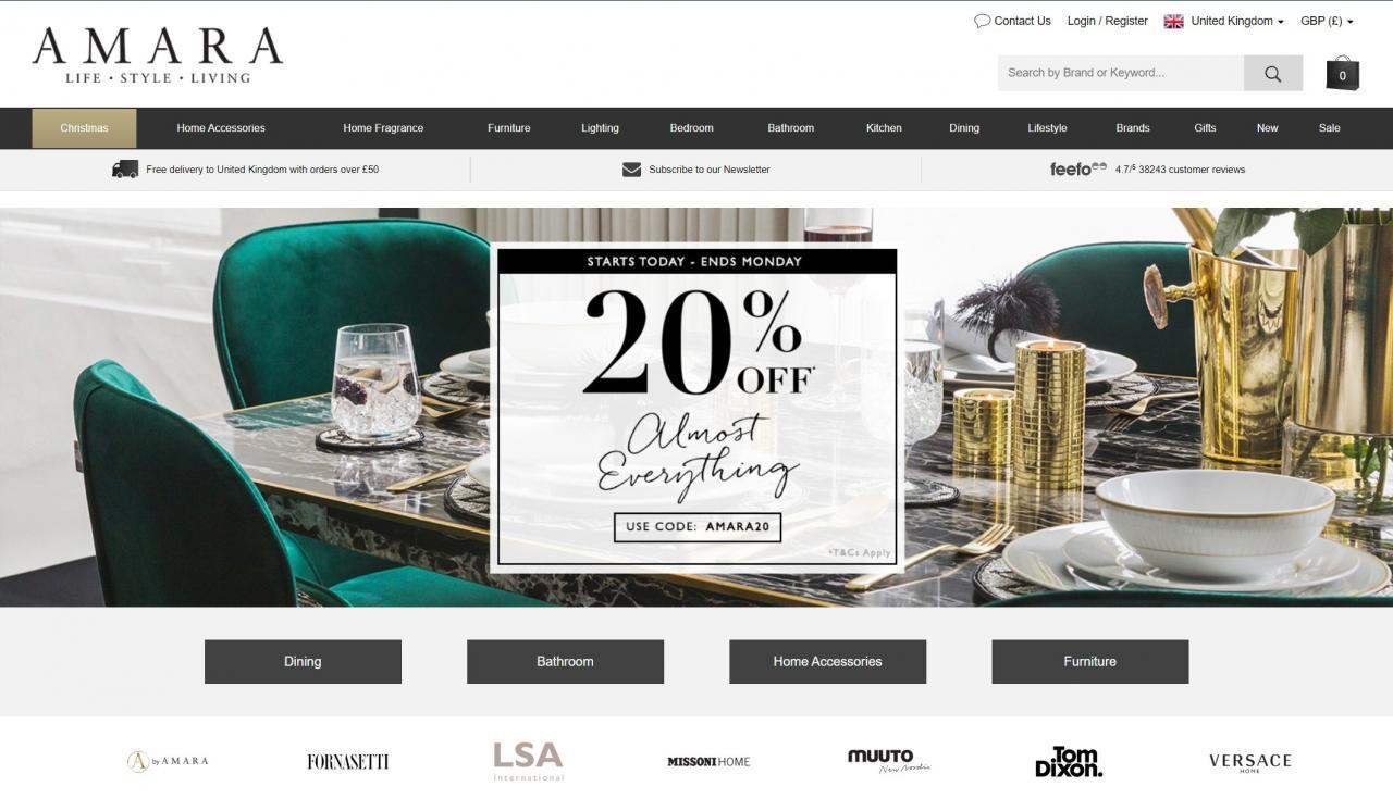 amara home page