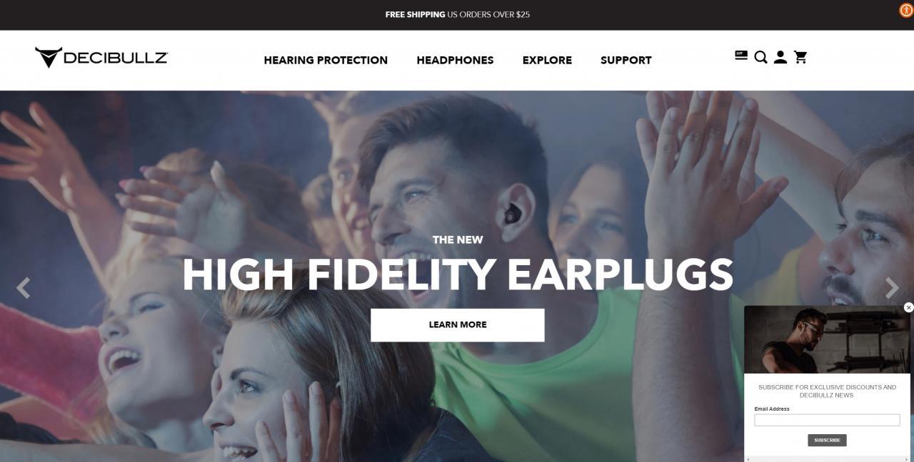 Decibullz home page
