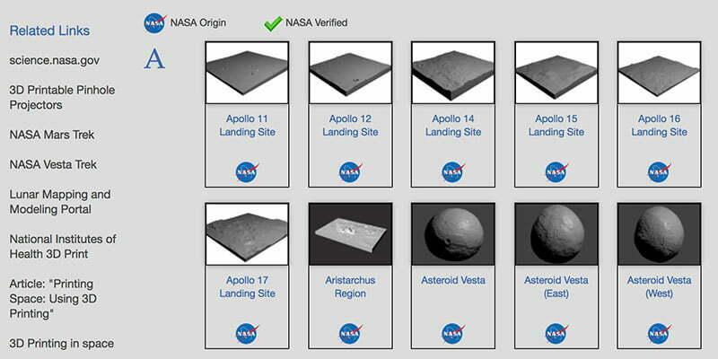 Tài nguyên 3D của NASA