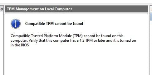 TPM 2.0 Off
