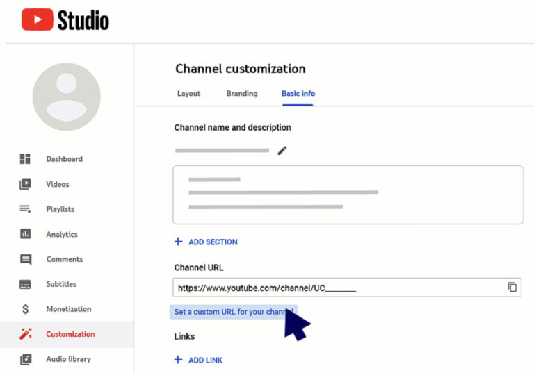 Cách đặt URL kênh YouTube tùy chỉnh