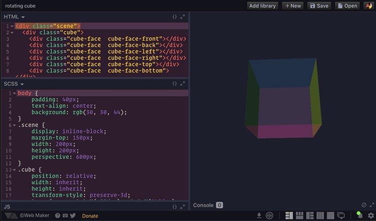 Giao diện ứng dụng Web Maker