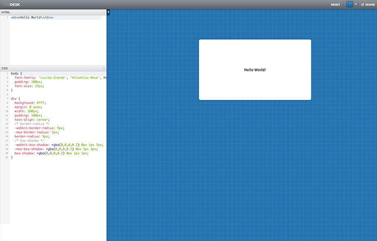 Mã hóa CSS3 trên ứng dụng web CSSDesk