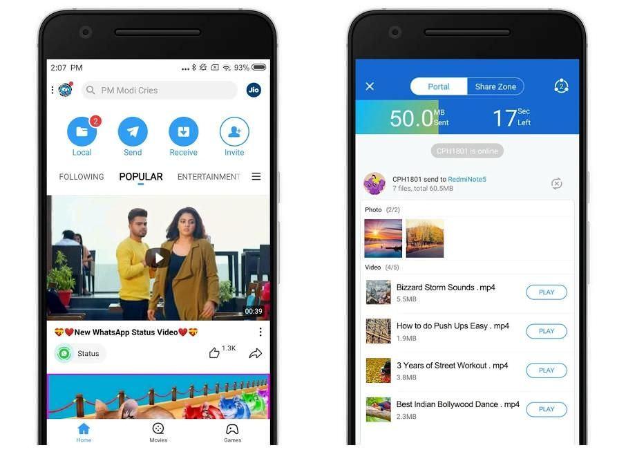 SHAREit để chia sẻ tệp nhanh hơn trên Android