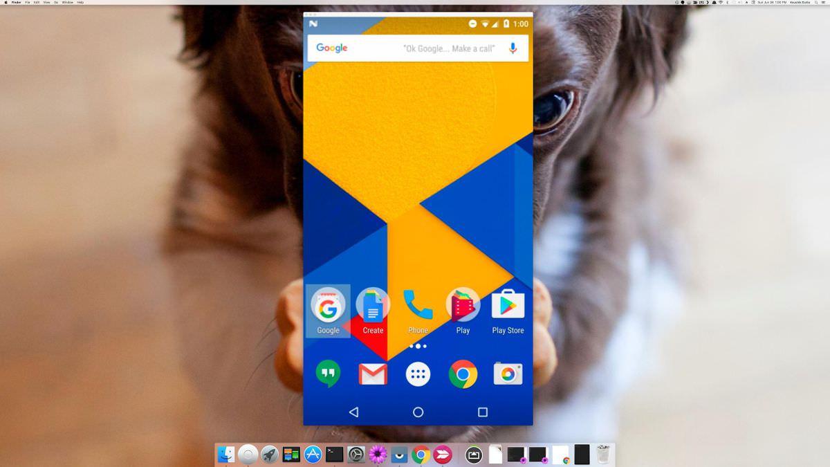 Vysor phản chiếu Android trong macOS