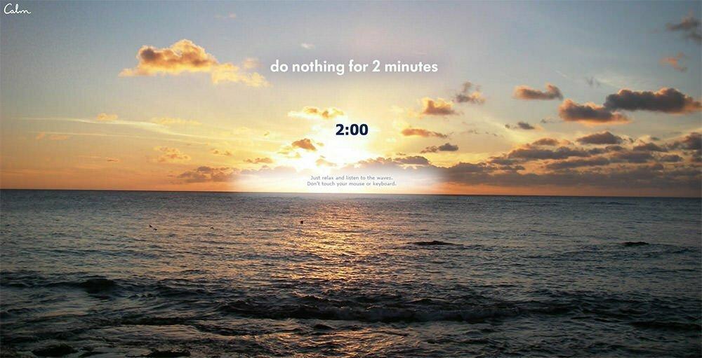 bình tĩnh không làm gì 2 phút