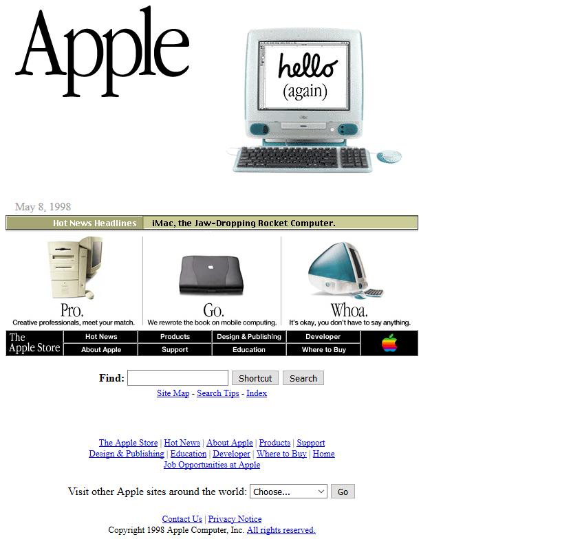 Khám phá xu hướng thiết kế web từ trước đến nay 1