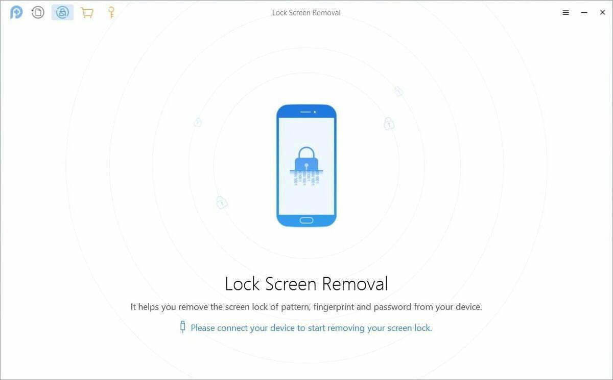 PhoneRescue có tính năng xóa màn hình khóa cho Android