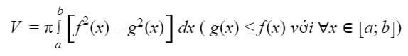 Công thức tính thể tích khối tròn xoay 2