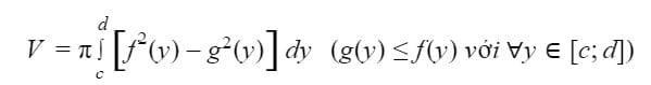 Công thức tính thể tích khối tròn xoay 6