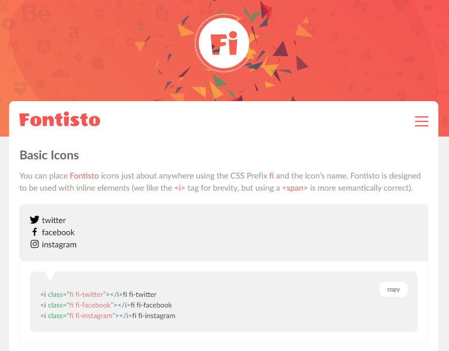 Fontisto - Gói Iconfont miễn phí 2