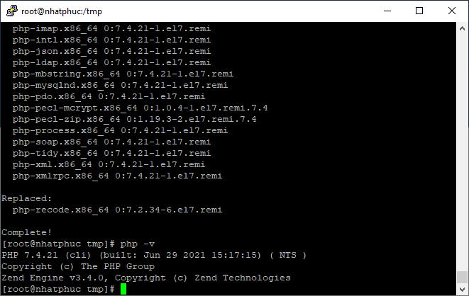 Cách nâng cấp server lên PHP 7.4 2