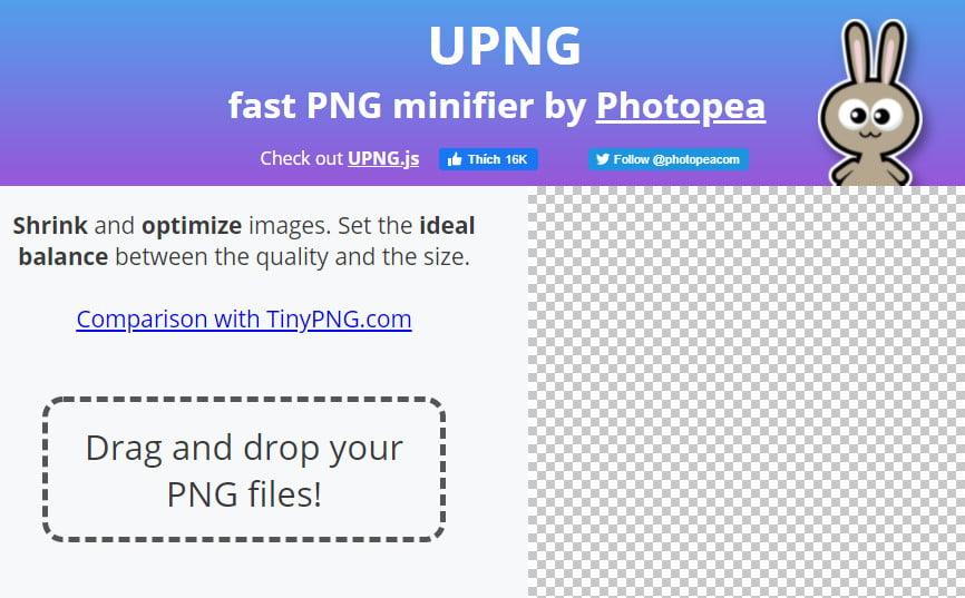 UPNG: công cụ thu nhỏ và nén PNG cực hay 2